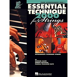 Hal Leonard Essential Technique 2000 For Strings Piano Accompaniment Book 3 (868078)