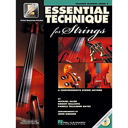 Hal Leonard Essential Technique 2000 For Strings Teacher's Manual Book/CD (868073)