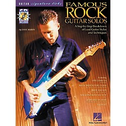 Hal Leonard Famous Rock Guitar Solos Signature Licks Book with CD (695590)
