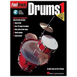Hal Leonard FastTrack Drum Method 1 (Book/CD) (697285)