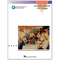 Hal Leonard Favorite French Art Songs For High Voice Book/CD (740046)