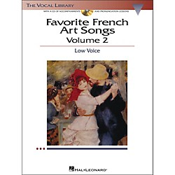 Hal Leonard Favorite French Art Songs For Low Voice Volume 2 Book/CD (442)
