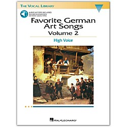 Hal Leonard Favorite German Art Songs For High Voice Volume 2 Book/CD (439)