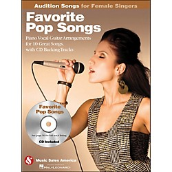 Hal Leonard Favorite Pop Songs - Audition Songs For Female Singers Book/CD (14028738)