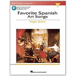Hal Leonard Favorite Spanish Art Songs For High Voice (The Vocal Library Series) Book/CD (740221)