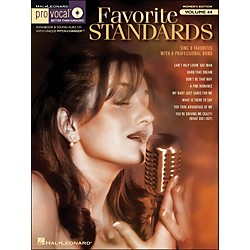 Hal Leonard Favorite Standards - Pro Vocal Songbook & CD For Female Singers Volume 44 (740418)
