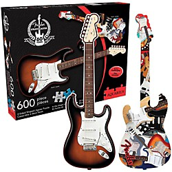 Hal Leonard Fender Guitar Shape - 600 Piece Two Sided Jigsaw Puzzle (125619)