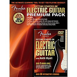 Hal Leonard Fender Presents Getting Started On Electric Guitar Premium Pack Book/CD/DVD (696649)