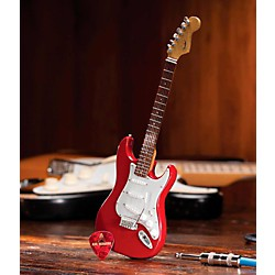 Hal Leonard Fender Stratocaster Classic Red Miniature Guitar Replica Collectible (124402)