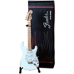 Hal Leonard Fender Stratocaster Olympic White Miniature Guitar Replica Collectible (124404)