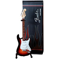 Hal Leonard Fender Stratocaster Sunburst Miniature Guitar Replica Collectible (124298)
