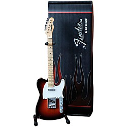 Hal Leonard Fender Telecaster Classic Sunburst Miniature Guitar Replica Collectible (124300)