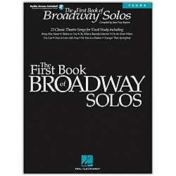 Hal Leonard First Book Of Broadway Solos For Tenor Voice Book/CD (740136)