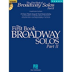 Hal Leonard First Book Of Broadway Solos Part II For Tenor Voice Book/CD (1113)
