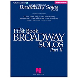 Hal Leonard First Book Of Broadway Solos Part II Mezzo-Soprano Book/CD (1112)