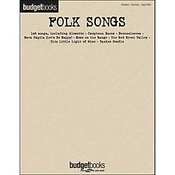 Hal Leonard Folk Songs Budget Book arranged for piano, vocal, and guitar (P/V/G) (311841)