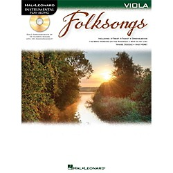 Hal Leonard Folk Songs For Viola  Instrumental Play-Along Book/CD (842703)