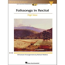 Hal Leonard Folksongs In Recital For High Voice Book / 2CD's (473)
