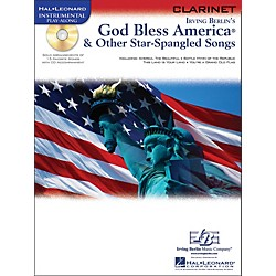 Hal Leonard God Bless America & Other Star-Spangled Songs For Clarinet instrumental Play-Along Book/CD (842303)