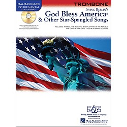 Hal Leonard God Bless America & Other Star Spangled Songs For Trombone instrumental Play-Along Book/CD (842308)