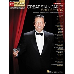 Hal Leonard Great Standards Collection - Pro Vocal Songbook & 2 CD's For Male Singers Volume 52 (740427)