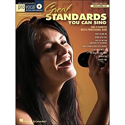Hal Leonard Great Standards You Can Sing - Pro Vocal Series Vol. 42 For Female Singers Book/CD (740416)