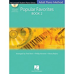 Hal Leonard Hal Leonard Student Piano Library Adult Method Popular Favorites Book 2 Book/CD (296842)