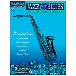 Hal Leonard Jazz And Blues Playalong Solos For Alto Sax Book/CD (841440)