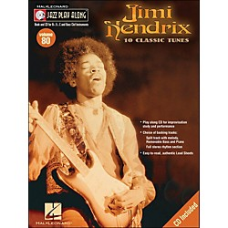Hal Leonard Jimi Hendrix Jazz Play-Along Volume 80 Book/CD (843083)
