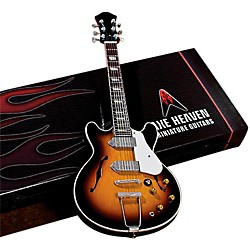 Hal Leonard John Lennon Classic 1965 Sunburst Casino Miniature Guitar Replica Collectible (124395)