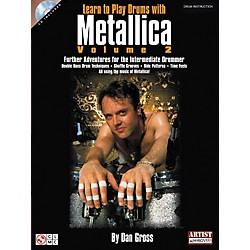 Hal Leonard Learn To Play Drums With Metallica Book and CD - Volume 2 (2500887)