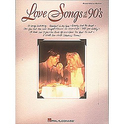 Hal Leonard Love Songs of The 90's Piano, Vocal, Guitar Songbook (310015)