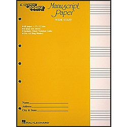 Hal Leonard Manuscript Paper (Wide Staff) 'E-Z Play Today' (101787)