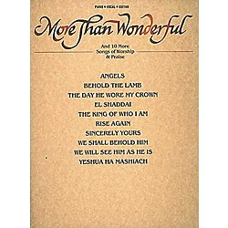 Hal Leonard More Than Wonderful & Ten Songs Of Worship & Praise Piano, Vocal, Guitar Songbook (240556)