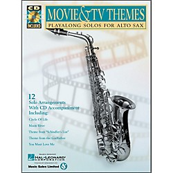 Hal Leonard Movie And TV Themes Playalong Solos For Alto Sax Book/CD (841454)