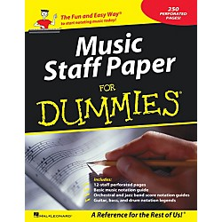 Hal Leonard Music Staff Paper For Dummies (210117)