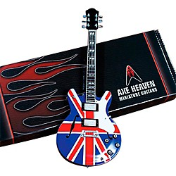 Hal Leonard Noel Gallagher Union Jack Supernova Miniature Guitar Replica Collectible (124396)