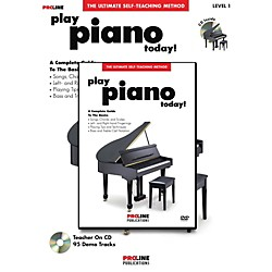 Hal Leonard PROLINE PLAY PIANO TODAY METHOD BOOK W/CD & DVD (702929)