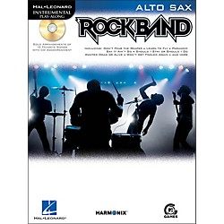 Hal Leonard Rock Band For Alto Sax Instrumental Play-Along Book/CD (842388)