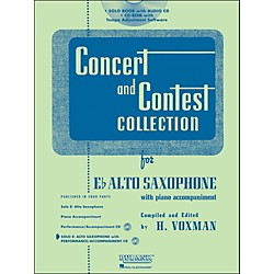 Hal Leonard Rubank Concert And Contest Collection Alto Sax Book/CD (4002514)