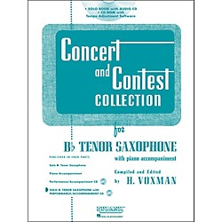 Hal Leonard Rubank Concert And Contest Collection Tenor Sax Book/CD (4002516)