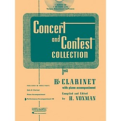 Hal Leonard Rubank Concert And Contest For Clarinet - Accompaniment CD (4002512)