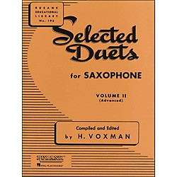 Hal Leonard Rubank Selected Duets For Saxophone Vol 2 Advanced (4470970)