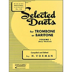Hal Leonard Rubank Selected Duets Trombone Or Baritone Vol 1 Easy/Medium (4471020)