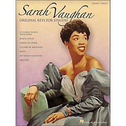 Hal Leonard Sarah Vaughan - Original Keys For Singers Vocal / Piano (306558)