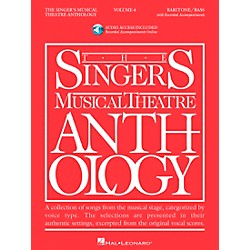 Hal Leonard Singer's Musical Theatre Anthology For Baritone / Bass Volume 4 Book/2CD's (799)