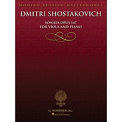 Hal Leonard Sonata Op 147 Viola Piano Library Of Russian Soviet Music By Shostakovich (50335600)