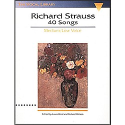 Hal Leonard Songs Of Richard Strauss - 40 Songs For Medium / Low Voice (747063)