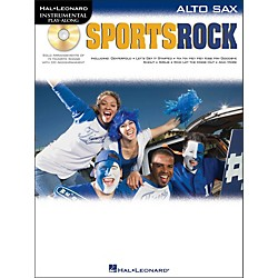 Hal Leonard Sports Rock For Alto Sax - Instrumental Play-Along Book/CD Pkg (842328)