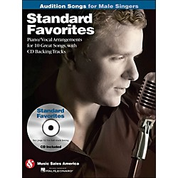 Hal Leonard Standard Favorites - Audition Songs For Male Singers Book/CD (14037454)